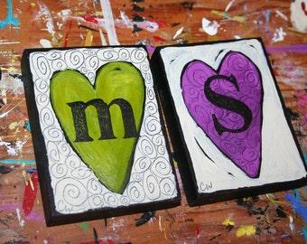 Words of the HEART - THREE custom handpainted originals