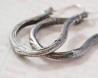 Greater Love Hoop Earrings in Fine and Sterling Silver