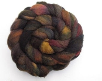 Hand-dyed Corriedale  4oz.