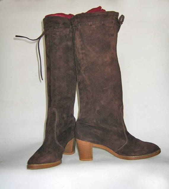 Brown Suede Boots Women