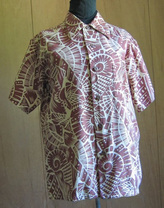 Reserved*Vintage Tropical Print Cotton Short Sleeved Shirt For Men
