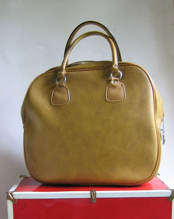 Vintage Mustard Colored Tote Bag