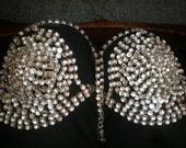 Total Rhinestone Vintage Vegas Showgirl Halter Top & Bracelet