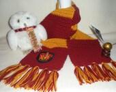 Harry Potter Inspired Gryffindor Scarf