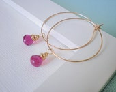 Design Your Earrings - Medium Gold Hoops