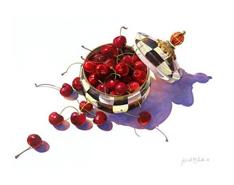 Open Edition print of  My Bowl of Cherries