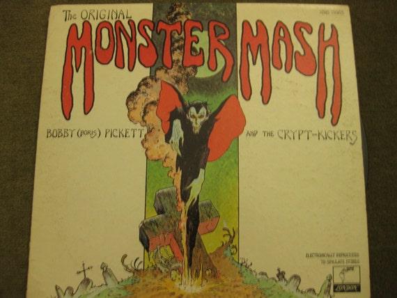 "VINTAGE ""The Original Monster Mash"" LP Vinyl Album Record, Bobby Boris Pickett & The Crypt-Kickers, May 1973 Parrot/London Records (A plus)"