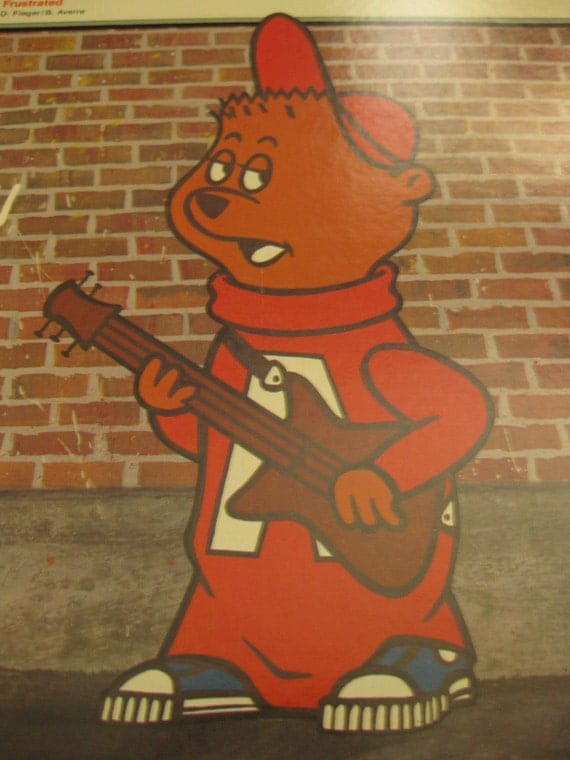 Vintage Chipmunk Punk Retro Lp Vinyl Record By The