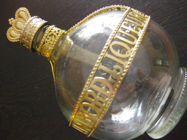 Vintage 1970s Chambord Liquor Bottle Round Onion Shape