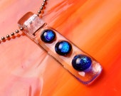 SALE Handmade DICHROIC Fused Glass Pendant Necklace ...slider...