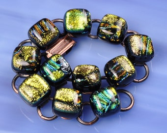 Dichroic Fused Glass Bracelet