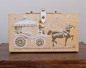 Vintage 1962 Carriage Trade The Original Wooden Box Bag by Enid Collins of Texas. US FREE delivery confirmation.