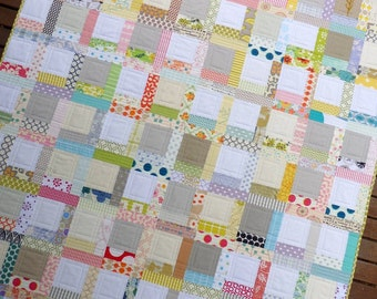 Tiffany Quilt Pattern (PDF file) | A Low Volume Patchwork Quilt Pattern