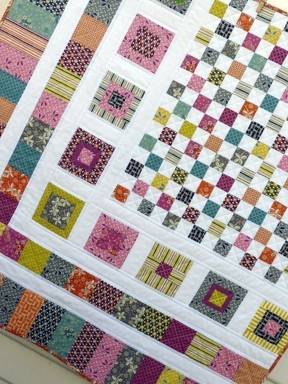 Bricks and Stones Quilt Pattern - pdf file