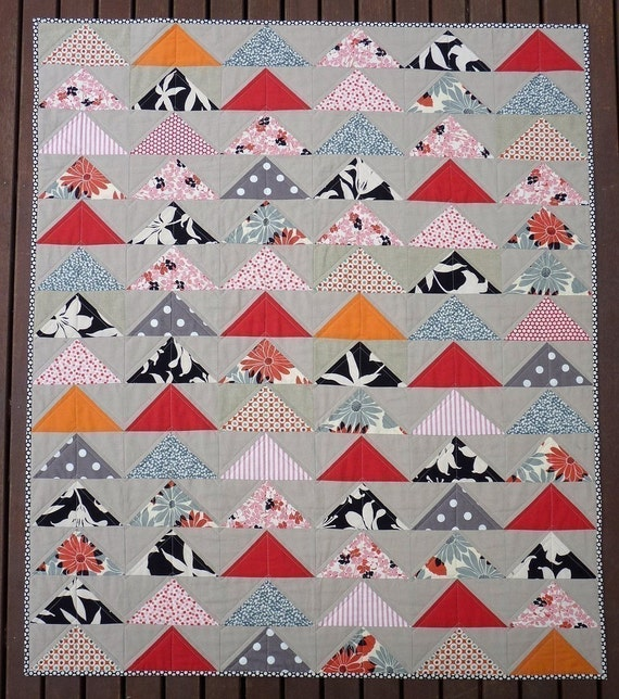 The Modern Flying Geese Quilt Pattern PDF file Immediate : flying geese quilting - Adamdwight.com