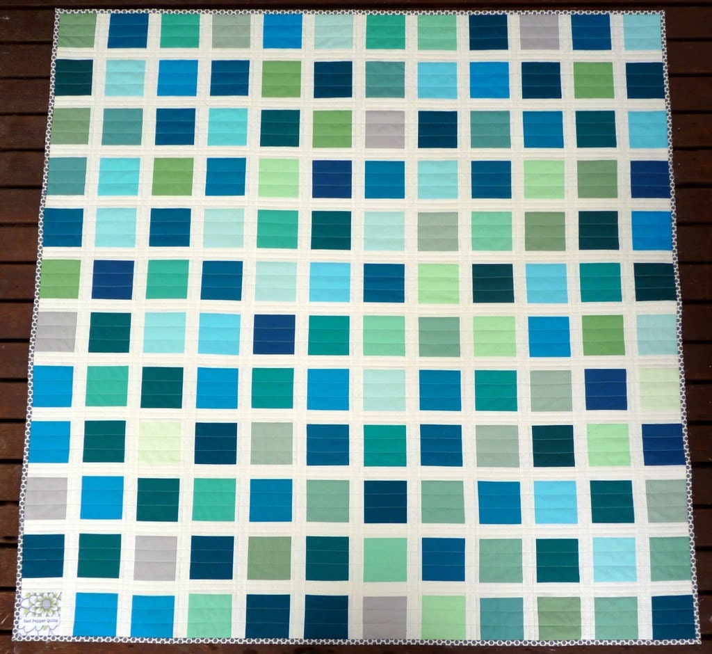 Poseidon Patchwork Quilt by Red Pepper Quilts - photo#39