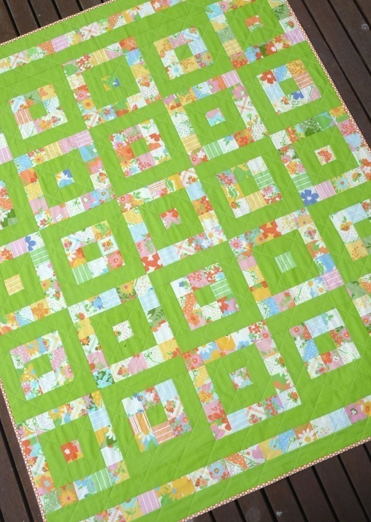 Layer Cake Quilt Moda : Take 1 A Layer Cake Quilt Pattern PDF file Immediate