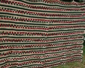 SALE Mile a minute striped afghan Ready to Ship