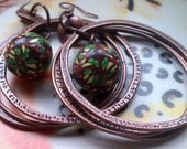 Brown Copper Polymer Clay Earrings