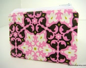 Small Zippered Purse - Credit Card . Business Card Holder . Coin Purse . Ready to Ship