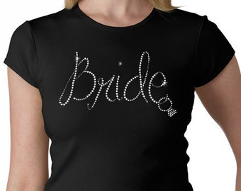 Bride With a hanging Ring Rhinestone T-Shirt or Tank Top