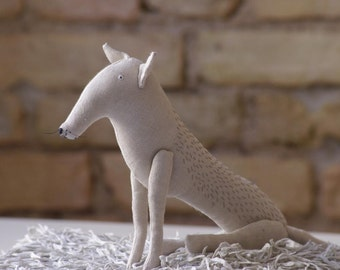 My white wolf/soft sculpture