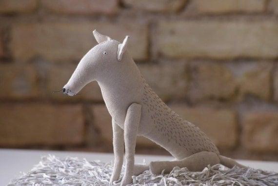 My white wolf/soft sculpture