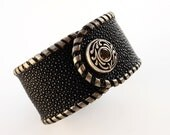 Black Stingray Leather Bracelet