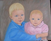Hand Drawing or Painting of my two children for Husband's birthday present - Need Quickly