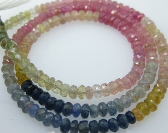 GENUINE UMBA SAPPHIRE FACETED ROUNDEL 4MM