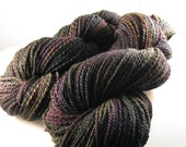 Down the Rabbit Hole, Falkland Wool Handspun Yarn, Worsted 2-ply 429 yds