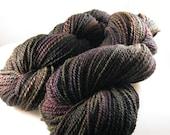 Down the Rabbit Hole, Falkland Wool Handspun Yarn, Worsted 2-ply 429 yds