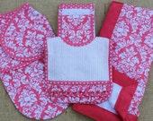 Damask Baby Girl Gift Set