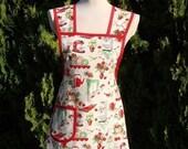 Retro 1950's kitchen print apron