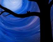 Blue Twilight original acrylic on canvas 16 x 20