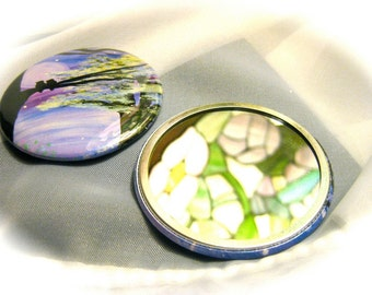 Enchanted Sky pocket mirror image of original artwork, your choice of artwork