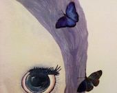 Utterly Fluttery - Original Canvas Painting