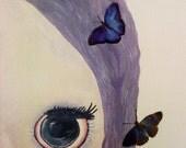 Utterly Fluttery - Original Canvas Painting