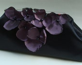 Sale Was 49.99 now 29.99 Purple and black... large size  handmade wedding clutch