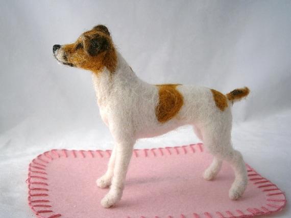 Custom Dog Sculpture /Needle Felted/ Pet Sculpture by FeltedFido