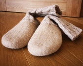 Candy milk   /   ECO friendly felted slippers- shoes