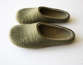 Lemon tree  Unisex  wool felted slippers