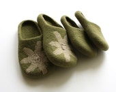 Olives blooms. This is special listing for Michaelyn. Slippers in women's size US 7