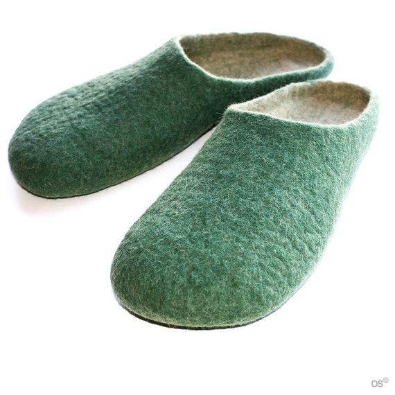 felted slippers PATRICKs GREEN