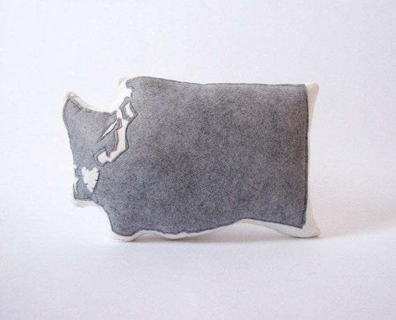 Customizable Washington State Pillow