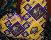 LSU Pillow Great Valentine Gift Heart-shaped Purple & Gold Team Spirit Love