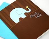 Blue Elephant Thank You Notecard Set