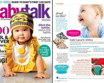 Letzli Bandana Bibs- You pick your 5 FAVE PRINTS- As seen in Baby Talk Magazine Feb 2012