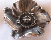 Circa 1900 Silver Flower Brooch