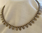 RESERVED FOR M. SALE Circa 1880's Victorian Silver Collar
